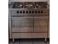 Range Cooker from Diplomat duel fuel 100cm stainless steel
