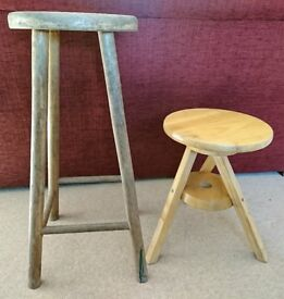 2 x Stools for up-cycling
