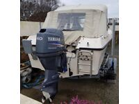 16foot GRP boat + Yamaha 60HP 4 Stroke + 4HP Aux Engine + Electrics