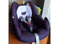 Maxi Cosi Pebble Car Seat fits Quinny Bugaboo Icandy Silvercross Oyster Sparkling Grape 2012 Model
