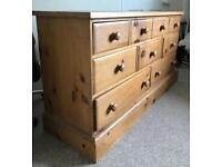 Solid Pine Sideboard (or Chest of drawers) (Indigo)