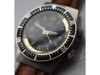 Newmark manual wind mechanical diver's wristwatch - Swiss - - Vintage-EB8800