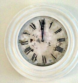 Shabby Chic Antiqued Clock - perfect for any room!