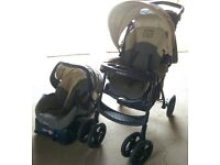 Graco Metrolite LE Travel System- Pushchair, Carseat & Carseat Base GOOD CONDITION