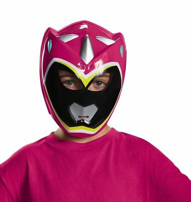 Kinder Power Ranger Pink Dino Charge Vacuform Maske Kostüm - Kinder Rosa Power Ranger Kostüm