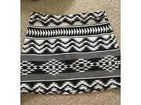 Topshop pattern mini skirt size 8
