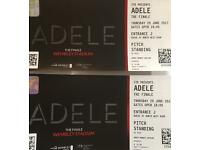 Adele 'The Finale' tickets x 2 at Wembley Stadium
