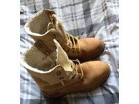 Genuine Timberland Boots, Size 6. (Used.)