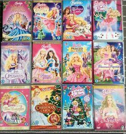 Barbie DVD's 12 off bundle £10 o.n.o