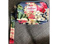 Cath Kidston Floral Print Zip Wristlet Wallet/Purse