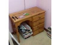 Four Drawer small pine vanity unit
