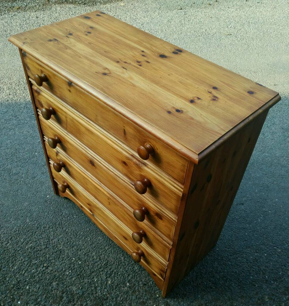 Real pine chest of drawers   in Exeter, Devon   Gumtree