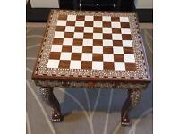 Indian inlaid chess table Brand New