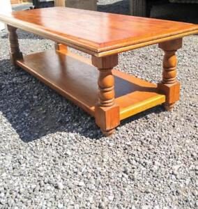 "48X20X15"" Heavy WOOD Coffee Table SOLID or BENCH Oakville Cottage Country Rustic Decor Primitive Solid Viking"