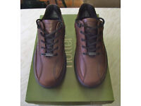 HOTTER BROWN LEATHER LACE UP GENTS CASUAL SHOE SIZE 6