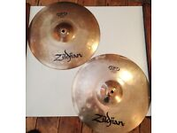 Zildjian ZBT hi-hat cymbal set top and bottom