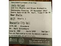Jools Holland/Jose Feliciano @Newcastle City Hall