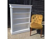 *Inc DELIVERY* Stunning Bookcase *Farrow & Ball* White shabby chic Solid Pine(dresser sideboard oak)
