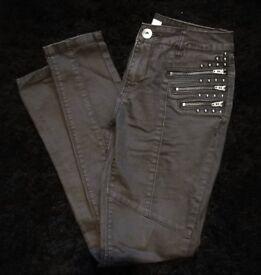 Fearne Cotton Black Biker Jeans [Size 8R]