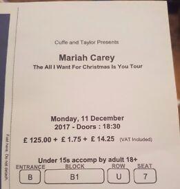 Mariah Carey Tickets O2 Arena Monday 11th BLOCK B1!!! Great Seats!