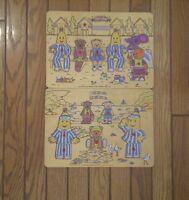 2 Bananas in Pyjamas Wooden Puzzles &  1 pc. Toddler Playsuit