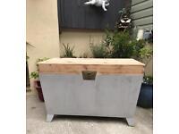 Large pine refurbished storage coffee table