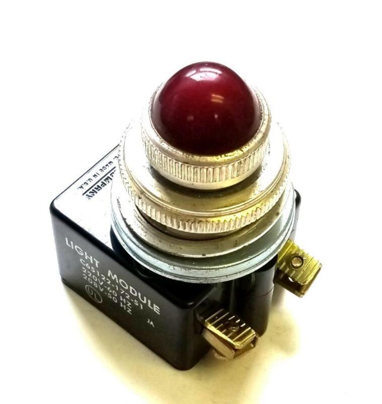 Square D C65122-172-51 Red Light Module 220 V 50/60 Hz