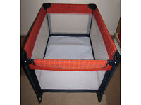 Travel cot/changing pad and playpen: Foldable, made by GRACO. Cost new about £55