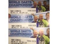 World Darts Championship - 6no Table - Alexandra Palace - Thurs 15 Dec Evening