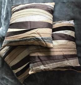Cushions - 3x Beautiful multi fabric