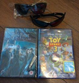 NEW 2x DVD& Blu-Ray/ 2x 3D glasses