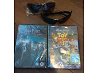 NEW 2x DVD& Blu-Ray/ 2x 3D glasses
