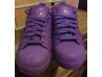 Adidas Pharrell Williams super colour. Superstar shell toe trainers. Size 9