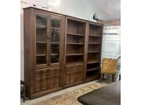 Ultra Rare Ercol 3m Library *FREE DELIVERY*Fruitwood Stain Bookcase Display Dresser (Elm Oak Blonde)