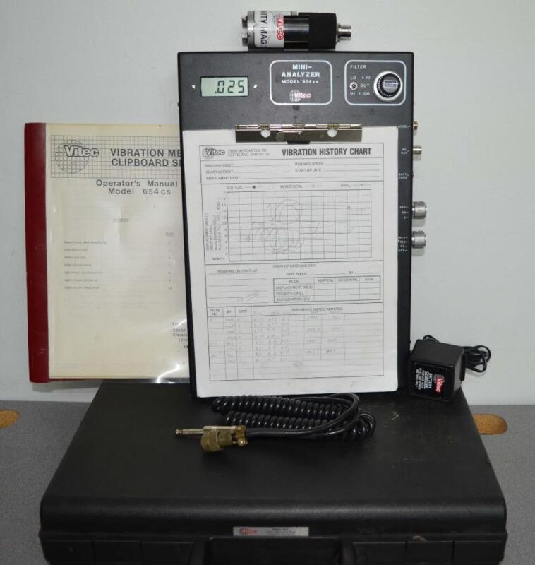 Vitec 654CS Digital Vibration Meter & Mini Analyzer ++