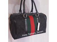 Women Gucci boston red green handbag striped bag £35