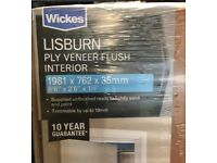 Wickes Lisburn Internal Ply Veneer Door Flushed