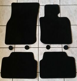BMW MINI black velour car mats for 5 door mini