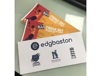 2x NatWest T20 Blast Finals Day Tickets 2nd September 2017 cricket edgbaston
