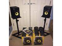 KRK ROKIT RP5 G3 speakers + stands, cables and isolation pads EXCELLENT CONDITION
