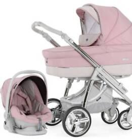 Pink bebecar 3in1