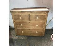 Solid pine chest Of Drawers Edwardian dovetails 3 ft