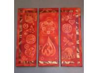 3 tier canvas art geometry indien summer titled love n peace