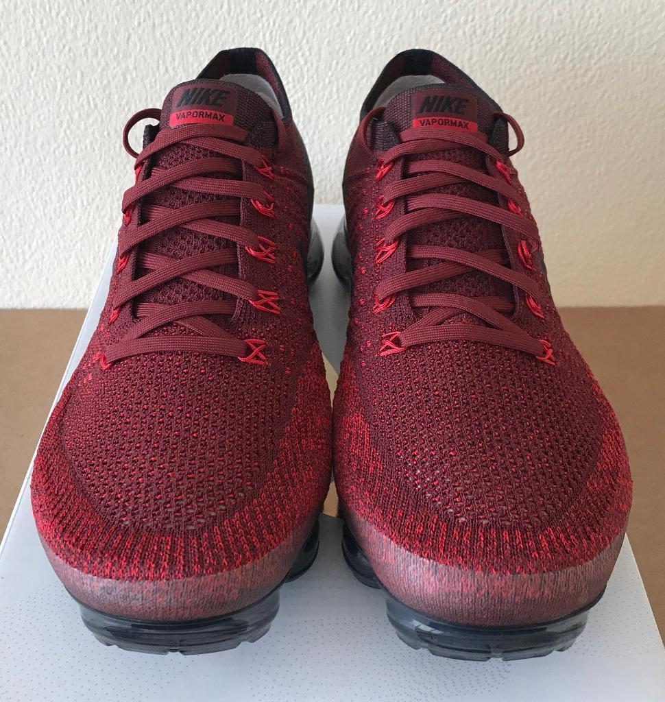 188730ffb2fdc Nike Air Vapormax Flyknit Deep Red Black UK 10 - 849558 601