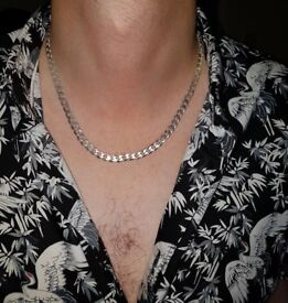 Men's Silver Necklace Chain / 925 / RRP £199 from H Samuels Jewellers (see receipt)