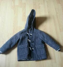 Age 2-3 duffel coat warm winter hooded jacket