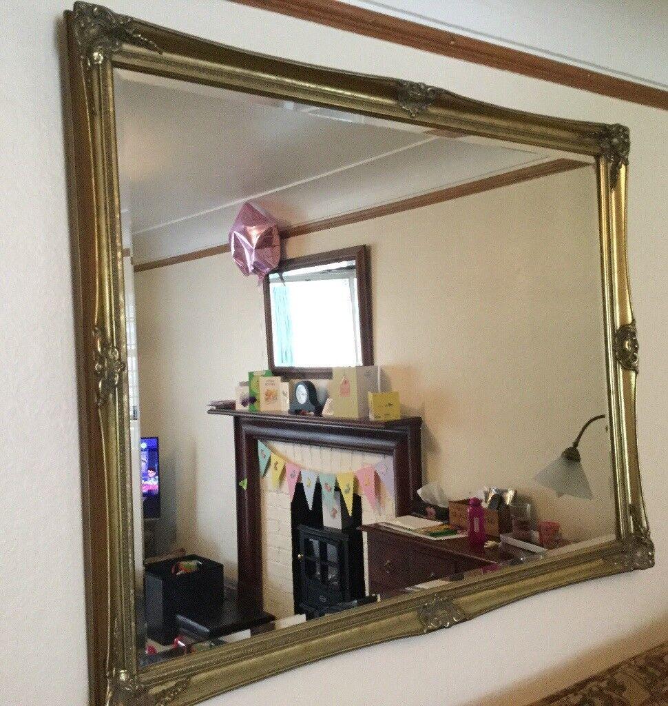 Large Gilt Framed Mirror Bevelled Edge   in East Grinstead, West ...
