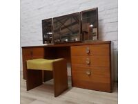 Stag Dressing Table With Stool (DELIVERY AVAILABLE FOR THIS ITEM OF FURNITURE)