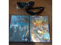 NEW DVD X2 & 3D glasses