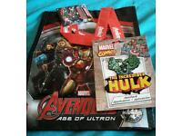 Marvel avenger bag and hulk patch both brand new will also swap for pokemon items